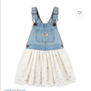 Tulle skirtall  denim dress